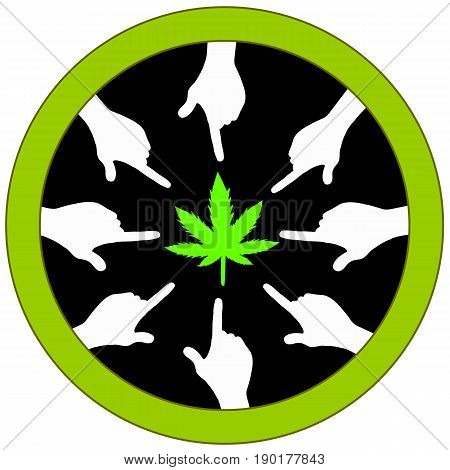 Vote for Cannabis. Concept sign for ballot measure voting to legalize marijuana