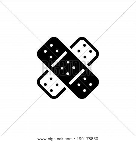 Band Aid and Medical Services Icon. Flat Design. Isolated.