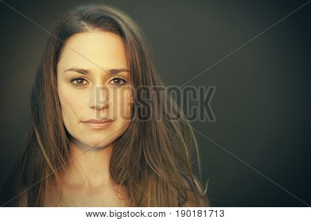 Caucasian woman with worried expression