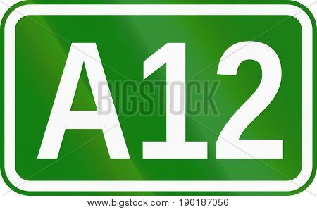 A12 Motorway Marking Sign Used In Romania