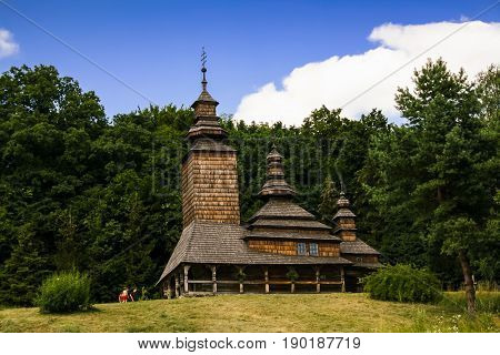 Old Wooden Church In The Village