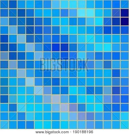 Blue mosaic background. Tiled background. Vector illustration