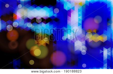 Abstract blurred blue bokeh  background. Vector illustration.