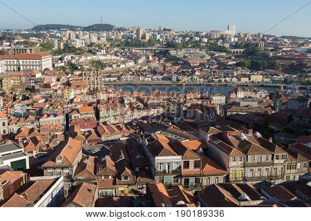 Beautiful Porto Skyline - Rooftops And City Center, Portugal
