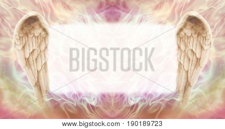 3D Angel Wings Message Board   -   wide wispy ethereal energy background with a large misty white central message board area  flanked by a pair of Angel wings