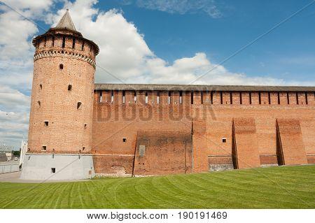 Marinkin Tower Of Kremlin In Kolomna Moscow Region.
