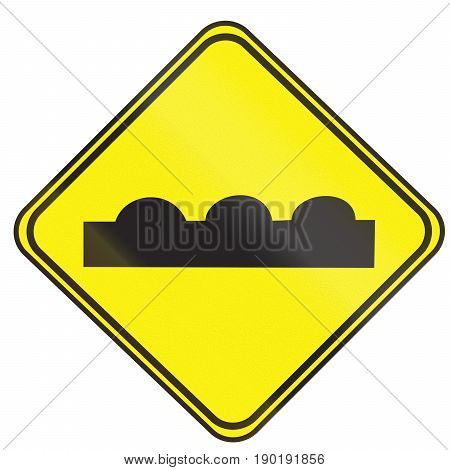 Road Sign Used In Uruguay - Uneven Road