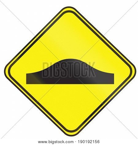 Road Sign Used In Uruguay - Bumps Ahead