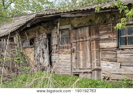 Old Abandoned Rotting House In The Village