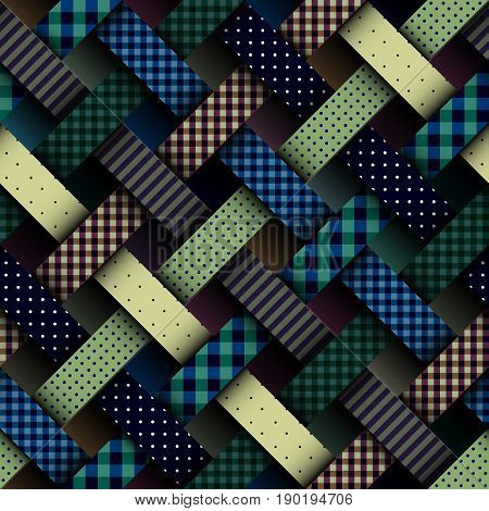 Seamless background pattern. Geometric abstract interweaving pattern