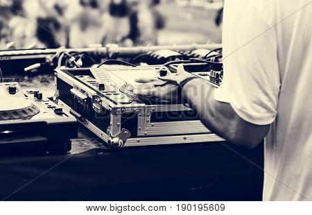 Electronic EDM concert music festival poster