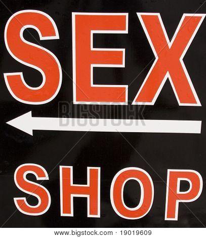 Sex shop sign