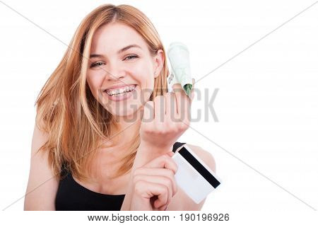 Close-up Portrait Of Attractive Girl Smiling