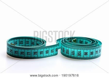Circles Made By Cyan Measuring Tape
