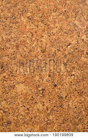 Closed up of brown cork board texture background.