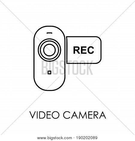 Video Camera Icon Symbol Flat Style Vector Illustration
