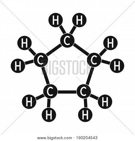 Chemical oil formula.Oil single icon in black style vector symbol stock illustration .