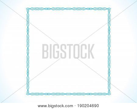 abstract artistic detailed blue border vector illustration