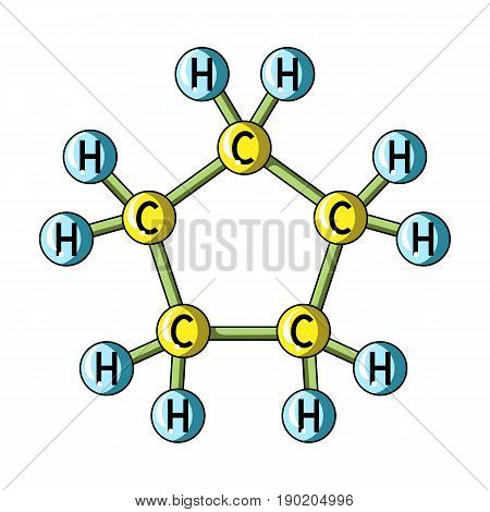Chemical oil formula.Oil single icon in cartoon style vector symbol stock illustration .
