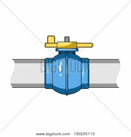 Pipeline shutter.Oil single icon in cartoon style vector symbol stock illustration .