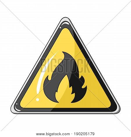 Sign of flammability.Oil single icon in cartoon style vector symbol stock illustration .