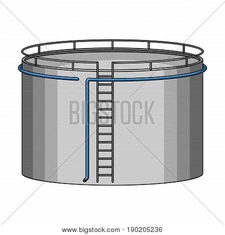 Oil storage tank.Oil single icon in cartoon style vector symbol stock illustration .