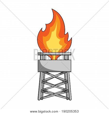 Gas tower.Oil single icon in cartoon style vector symbol stock illustration .