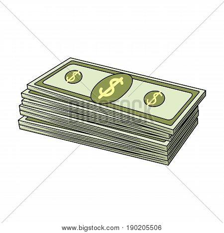 Petrodollars.Oil single icon in cartoon style vector symbol stock illustration .