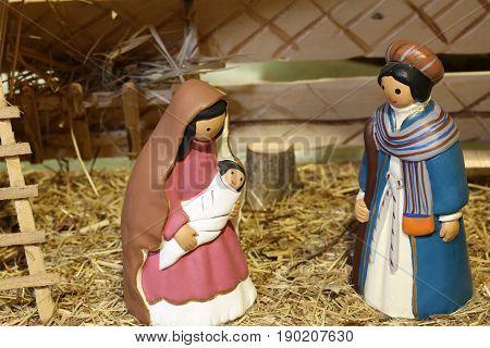 Venezuela Nativity Scene With The Holy Family