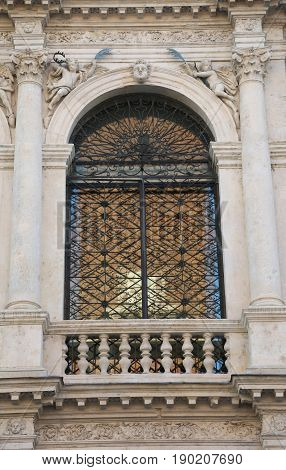 Window Of Ancient Church Of Saint Vicent Called San Vincenzo In