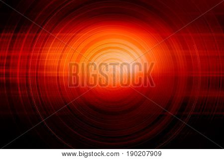 Concentric circles expanding from center to edges red theme background.