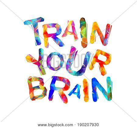 Train Your Brain. Vector Triangular Letters