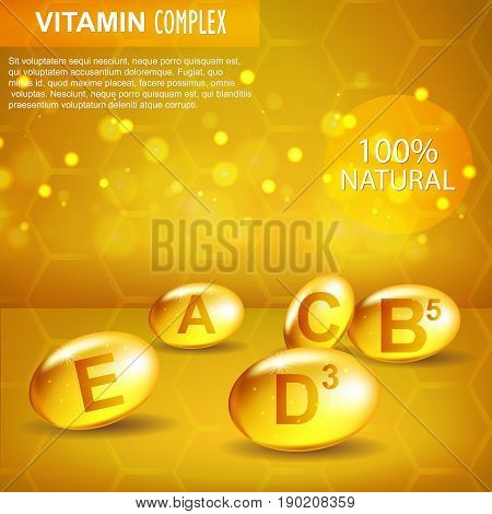 Vitamin Complex. Cosmetics. A, B 5, C, E, D 3. Facial And Body Care.