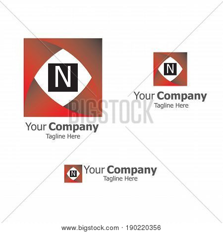 Abstract square logo vector template. symmetric symbol, square icon, box logo or box square shape. Company logo. Geometric design. Square logo. Square design. Square icon