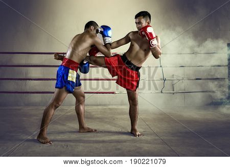 Muay Thai Thailand Boxing Man Fighter martial art of Thailand.