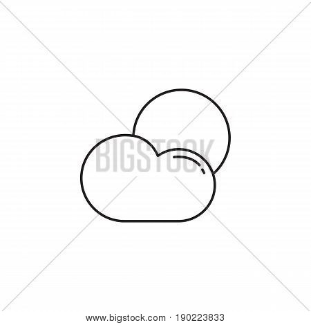Weather line icon, Sun with Cloud, Modern sign for mobile interface, vector graphics, a linear pattern on a white background, eps 10.