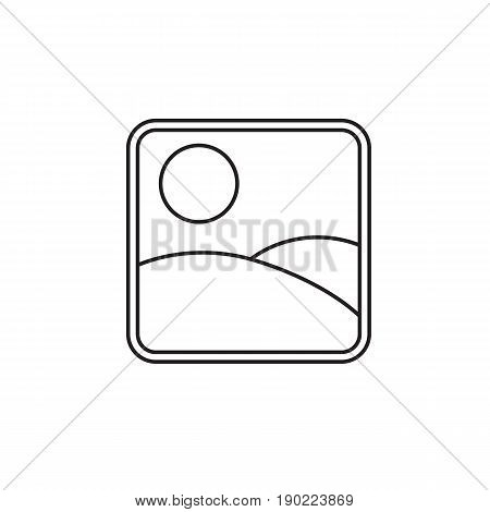 Photo Gallery and Picture line icon, Modern sign for mobile interface, vector graphics, a linear pattern on a white background, eps 10.