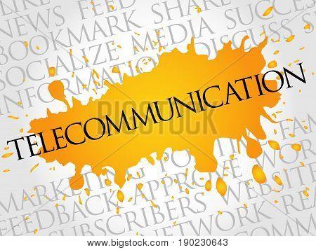Telecommunication Word Cloud