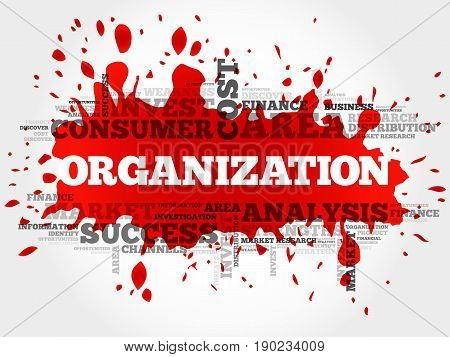 ORGANIZATION word cloud collage, business concept background