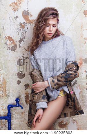 Cool Trendy Girl Posing