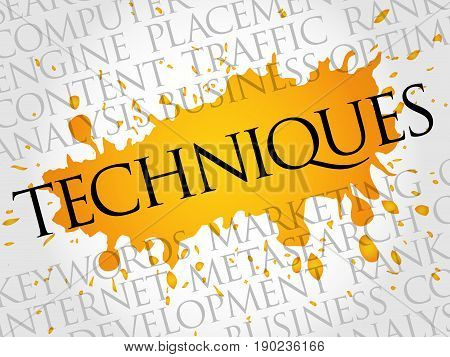 Techniques Word Cloud Collage