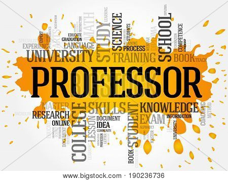 Professor Word Cloud Collage