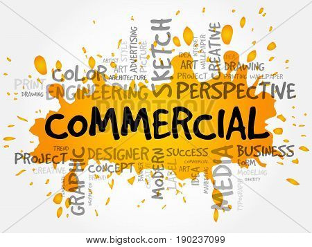 Commercial Word Cloud, Creative Concept