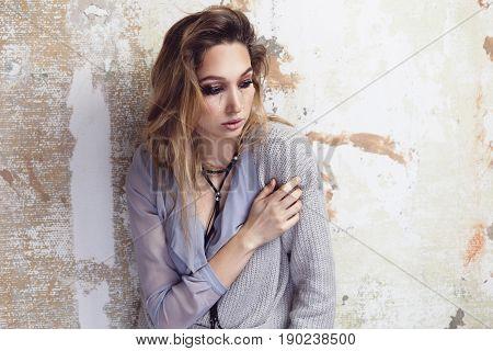 Crying Glamorous Woman