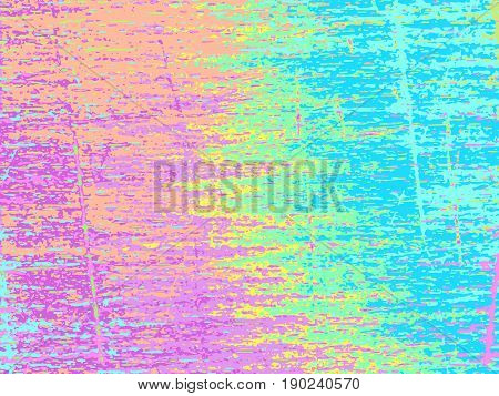 Grunge vector background. Dusty abstract texture. Dirty strokes. Colorful overlay. Vintage effect graphic design. Trendy simple backdrop. Grungy template for web design or printed products.