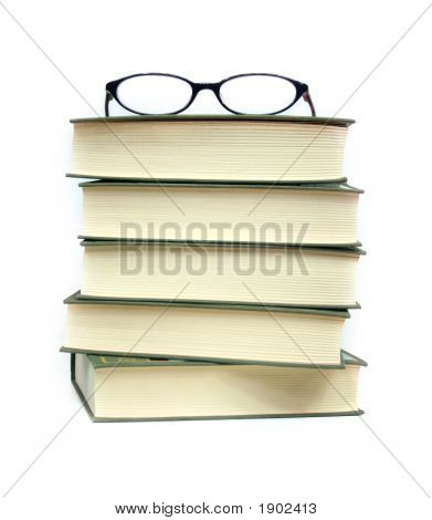 Books And Eyeglasses