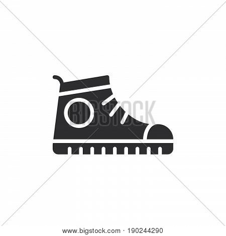 Sport shoe Sneakers icon vector filled flat sign solid pictogram isolated on white. Symbol logo illustration. Pixel perfect