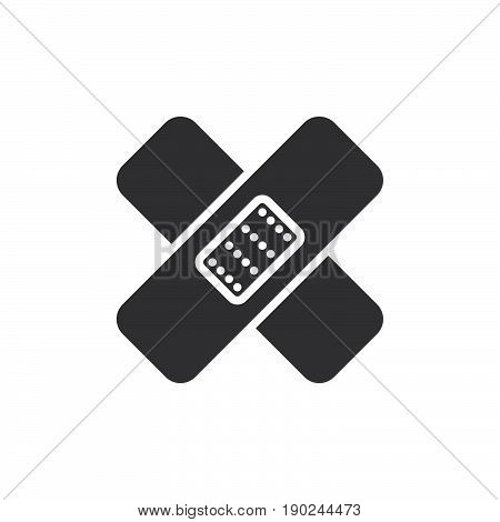 Band aid icon vector filled flat sign solid pictogram isolated on white. Symbol logo illustration. Pixel perfect