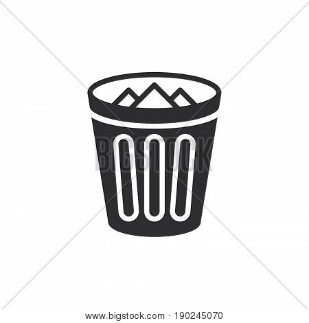 Trash bin icon vector filled flat sign solid pictogram isolated on white. Delete symbol logo illustration. Pixel perfect