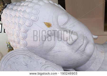 white marble head Buddha sculpture spirituality udon thani